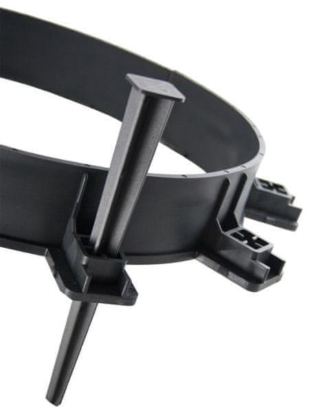 Neviditelný obrubník Ozy-board 55 černý, 1000 x 55 x 100 mm
