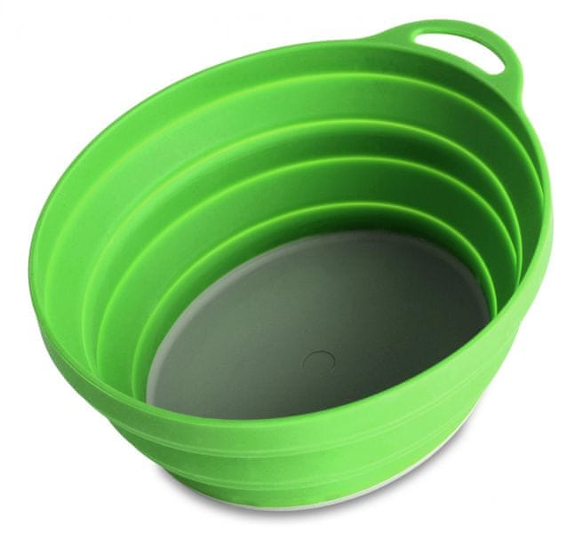 Lifeventure Silicon Ellipse Bowl green