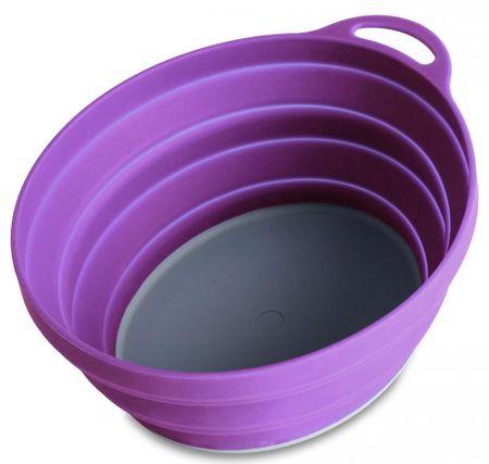 Lifeventure Silicon Ellipse Bowl purple