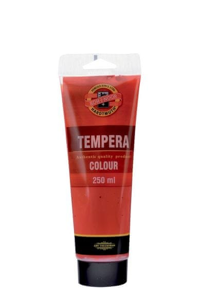 Barva temperová tuba 250 ml sráž alizarinová (tmavě červená)