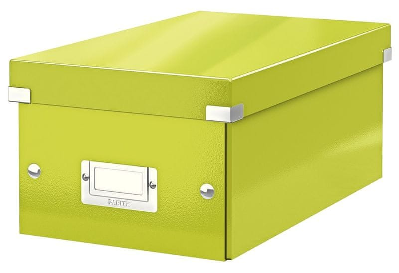 Krabice CLICK & STORE na DVD, zelená
