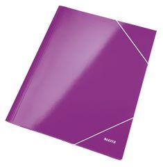 Mapa odkládací se 3 klopami Leitz WOW A4 purpurové