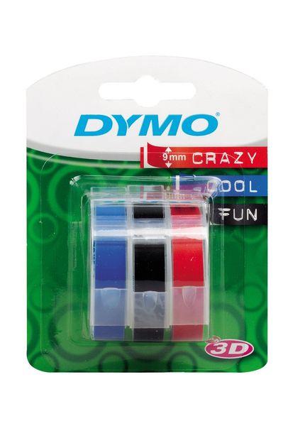 Páska DYMO 3D 9 mm 3 m blistr červená, černá, modrá