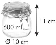 Tescoma Zavařovací sklenice s klipem DELLA CASA 600 ml, 12 ks