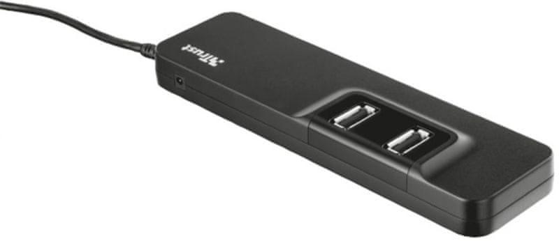Trust Rozbočovač Oila (7X USB 2.0 port), černá