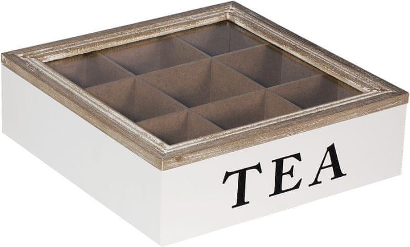 Time Life Dekorační krabička na čaj, bílá