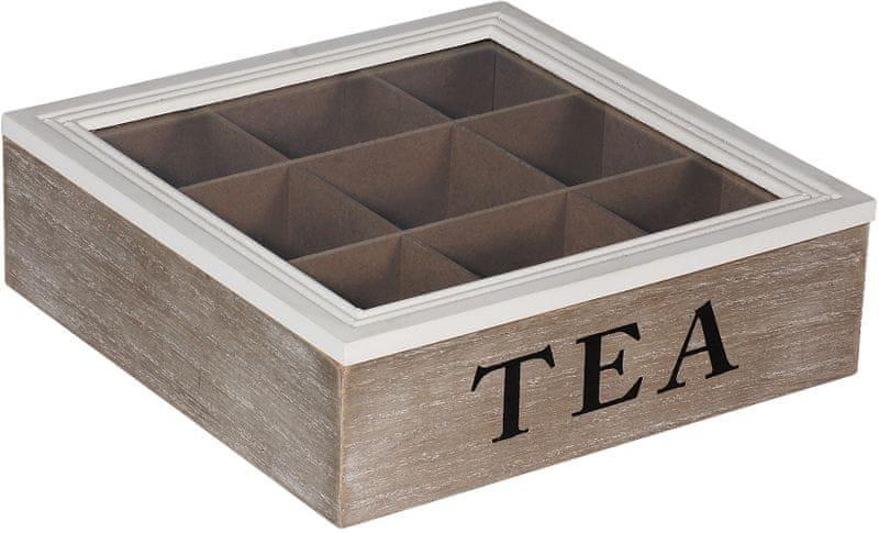 Time Life Dekorační krabička na čaj, šedá