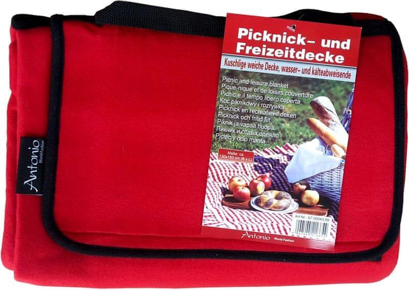 Antonio Pikniková deka 130x150 cm červená