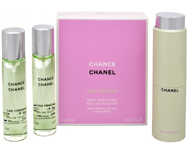 Chanel Chance Eau Fraiche - EDT (3 x 20 ml) 60 ml