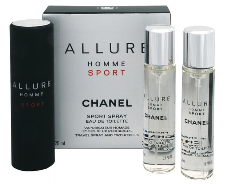 Chanel Allure Homme Sport - EDT (3 x 20 ml) 60 ml