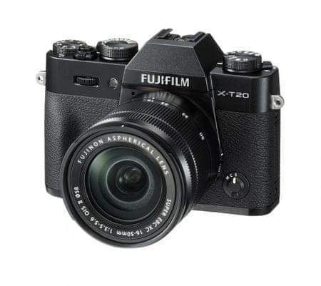 FujiFilm X-T20 XC16-50mm f/3.5-5.6 OIS II Digitális fényképezőgép, Fekete