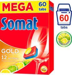 Somat Gold Lemon & Lime tablety do myčky 60 ks