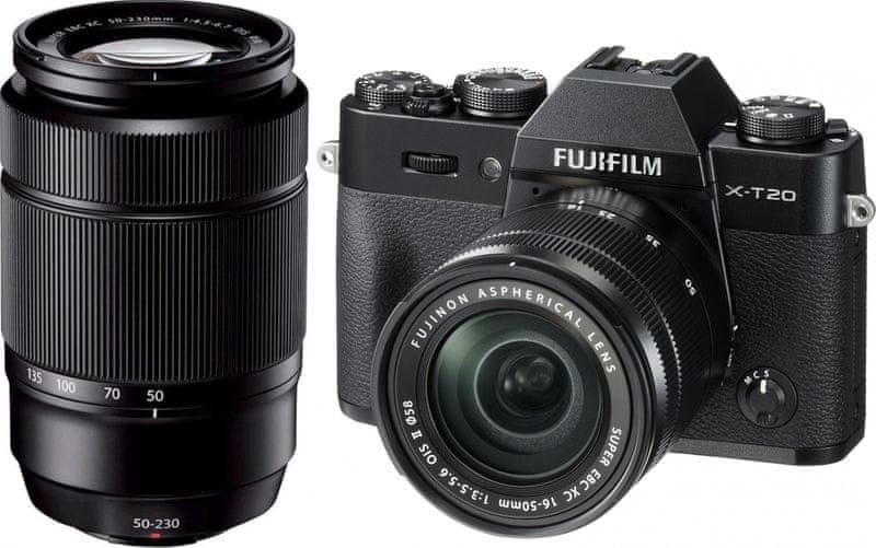 FujiFilm X-T20 + 16-50 + 50-230 Black
