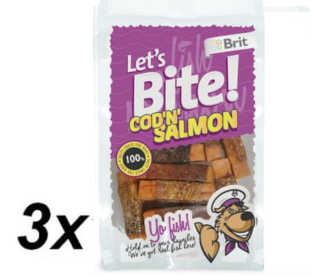 Brit Lets Bite Cod'n'Salmon 3 x 80 g