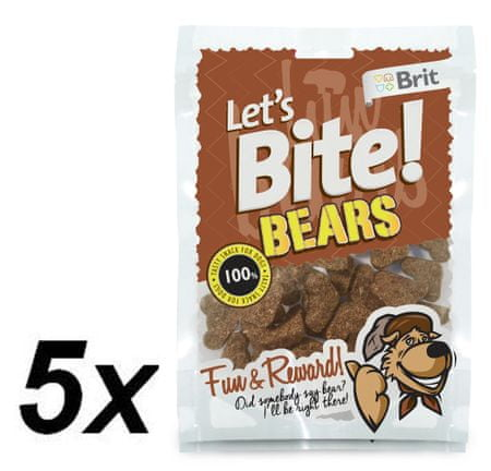 Brit Lets Bite Bears 5 x150 g