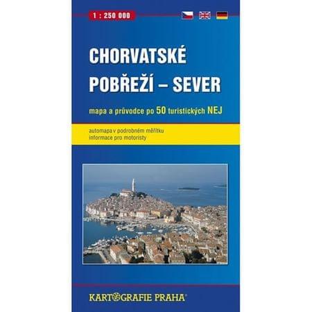 Chorvatské pobřeží - sever, 1:250 000 (automapa)