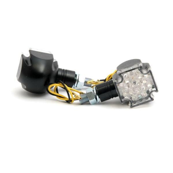 Highway-Hawk moto blinkry GOTHIC s LED, E-mark, černá (2ks)