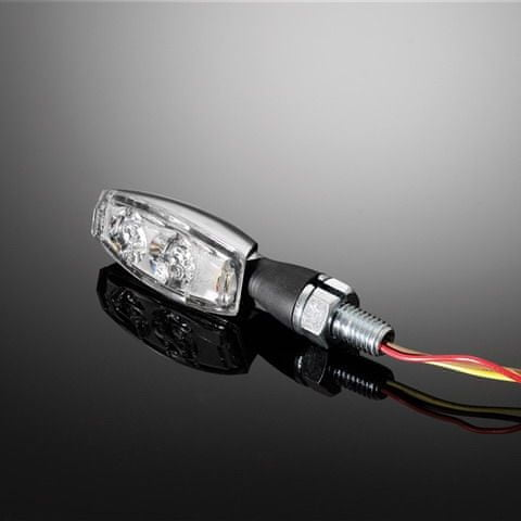 Highway-Hawk moto blinkry MINI s LED, E-mark, chrom (2ks)
