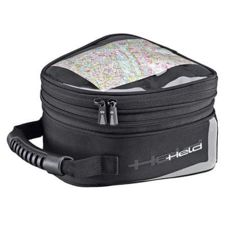 Held motocyklový Tankbag  VIBO-objem 2,5-4l, čierny, Magnetický systém