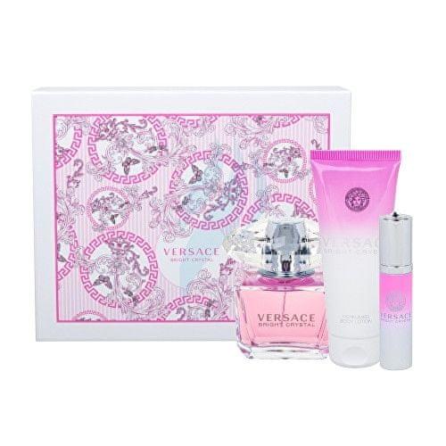 Versace Bright Crystal - EDT 90 ml + tělové mléko 100 ml + cestovní spray 10 ml