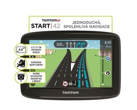 TomTom START 42 EU 45 Navigációs készülék