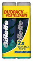 Gillette Gel na holení pro citlivou pokožku 2 x 200 ml
