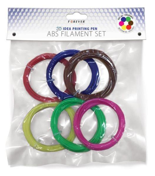 Forever 3D Pero Forever - Sada nápní: červená, modrá, zelená, žlutá, hnědá, růžová