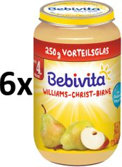 Bebivita Hrušky Williams-Christ - 6x250g