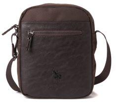 U.S. Polo Assn. moška torbica temno rjava