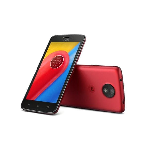 Motorola Moto C (4G), 16 GB, Red