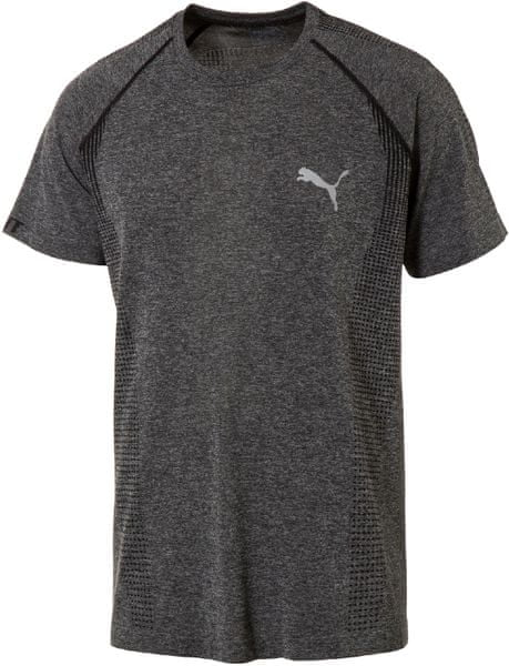 Puma evoKNIT Basic Tee Black Heather S