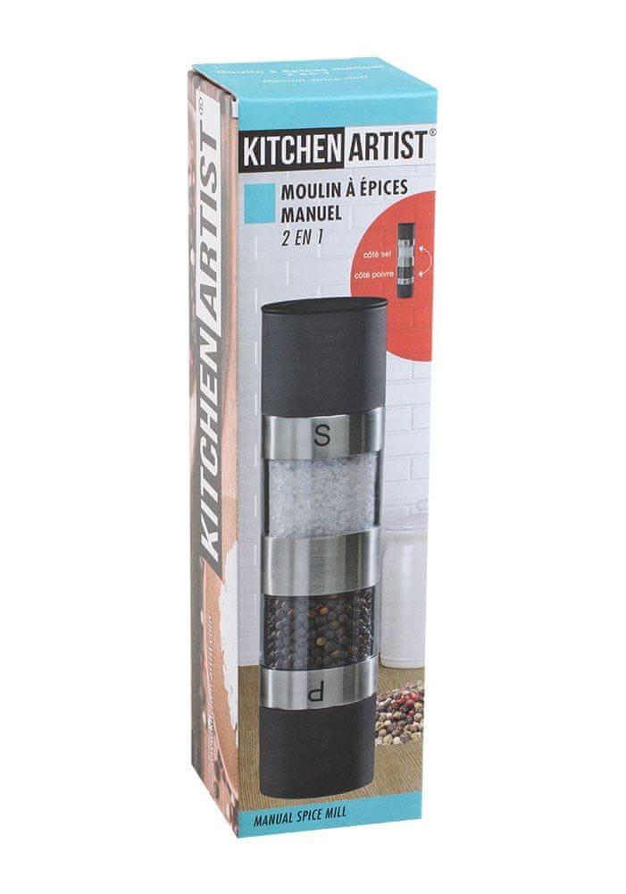 Kitchen Artist Ruční mlýnek na sůl a pepř MEN328N