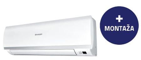 Sharp stenska klimatska naprava AY-X12PSR, z montažo