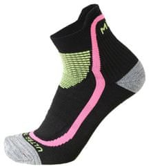 Mico Calza Ultra Trail Running Nero Fucsia Flu