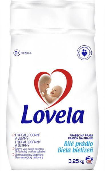 Lovela Prášek bílá, 3,25 kg / 26 pracích dávek
