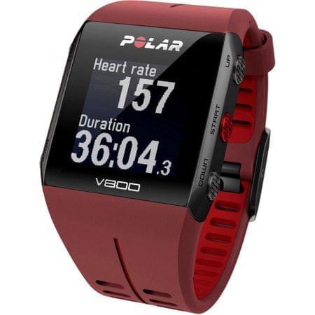 Polar športna ura V800, rdeča