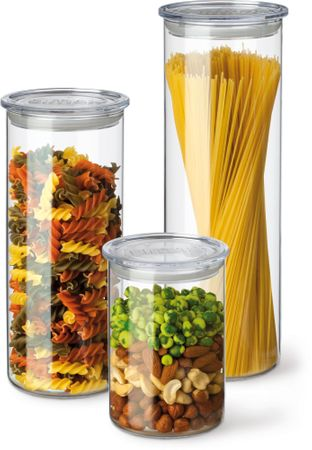 Simax set posod za shranjevanje s plastičnim pokrovom 3 kos
