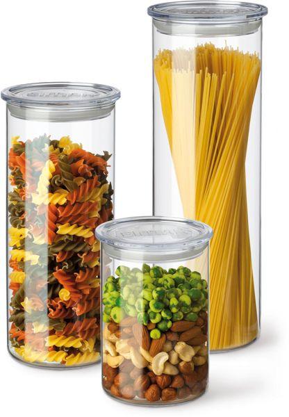 Simax Set zásobníků s plastovým víkem 3 ks