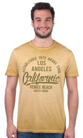 Brave Soul moška majica Batra S rumena