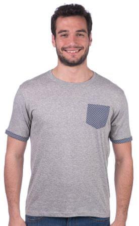 Brave Soul moška majica Sphere L siva