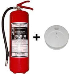 Hastex Sada práškový hasicí přístroj 6kg P6Th + kouřové čidlo