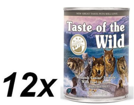 Taste of the Wild Wetlands konzerv 12 x 390g