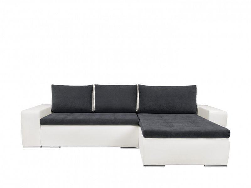Rohová sedačka MONTANA II LUX, univerzální roh, bílá/šedá