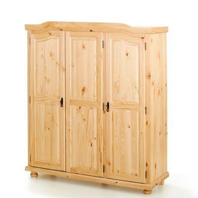 Šatní skříň BERN, masiv borovice