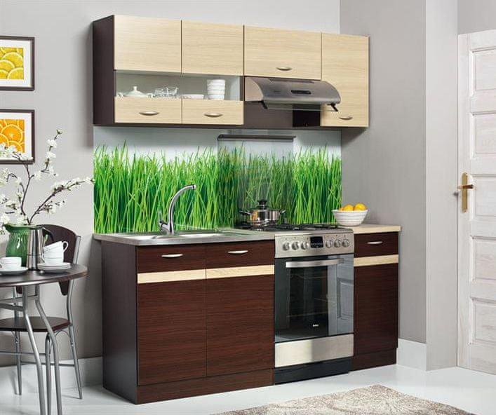 Kuchyně ELIZA 120/180 cm, dub wenge/rijeka světlá