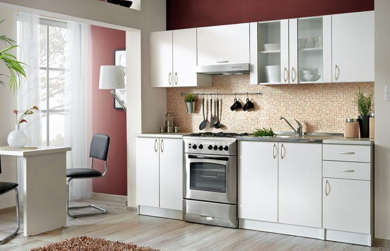 Kuchyně JOLANA II 180/240 cm, bílá