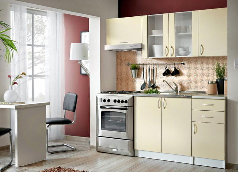 Kuchyně JOLANA II 120/180 cm, vanilka