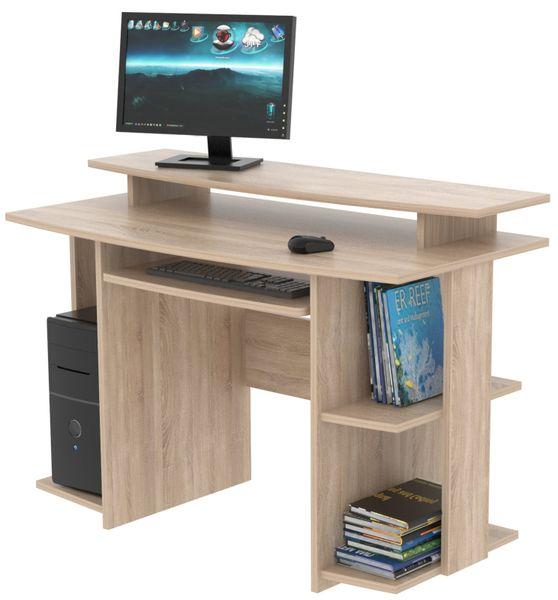 Praktický PC stůl DAVID, dub sonoma