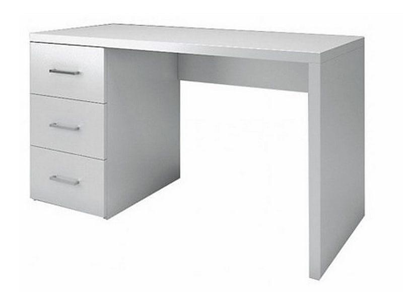 Psací stůl se šuplíky NESTEA bílý