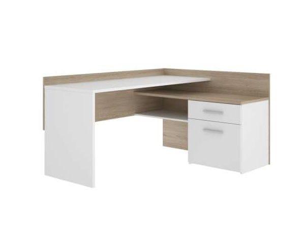 Psací stůl MT939, dub sonoma/bílá